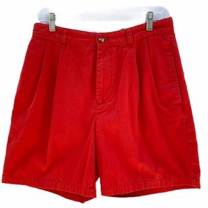 Tommy Hilfiger red cotton shorts